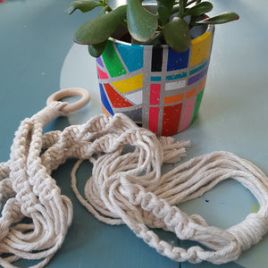 D.I.Y. Kits: Pot painting and macrame plant hanger