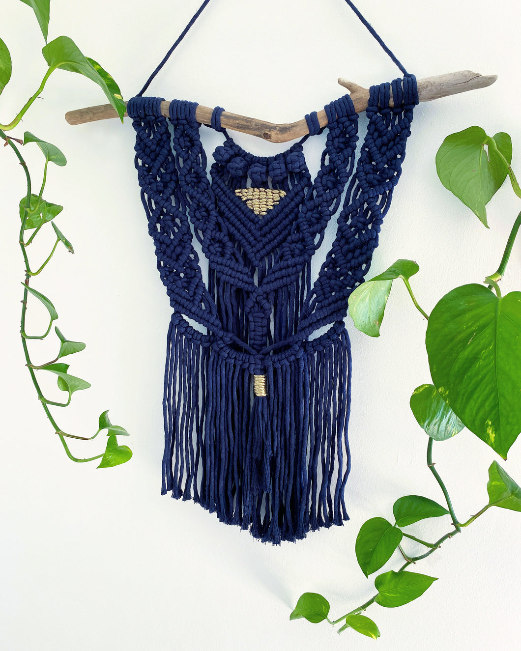 Navy Macrame Wall Hanging