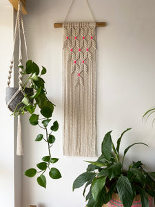 Natural Wall Hanging with Neon Accent