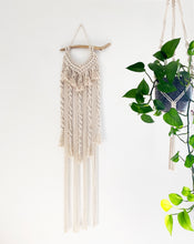 Load image into Gallery viewer, Natural Macrame Wall Hanging with Driftwood