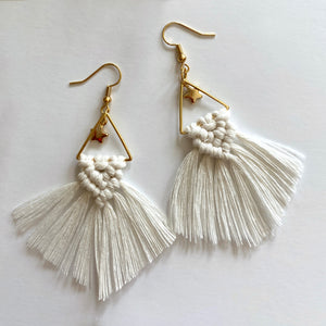 Macrame Triangle Earrings