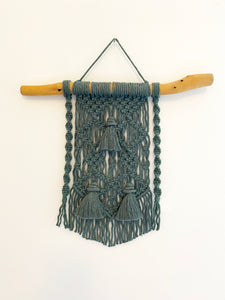 Laurel Macrame Wall Hanging with Driftwood