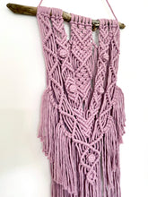 Load image into Gallery viewer, Dusty Pink Macrame Wall Hanging