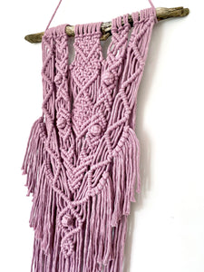 Dusty Pink Macrame Wall Hanging