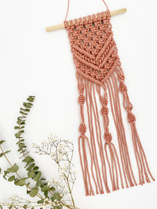 D.I.Y. Macrame Mini Wall Hanging Kit with Video