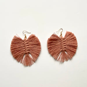 Macramé Feather Earrings