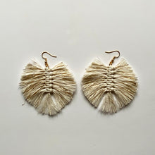 Load image into Gallery viewer, Macramé Feather Earrings