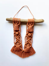 Load image into Gallery viewer, Terracotta Macrame Wall Hanging with Driftwood