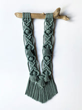 Load image into Gallery viewer, Eucalyptus Macrame Wall Hanging with Driftwood
