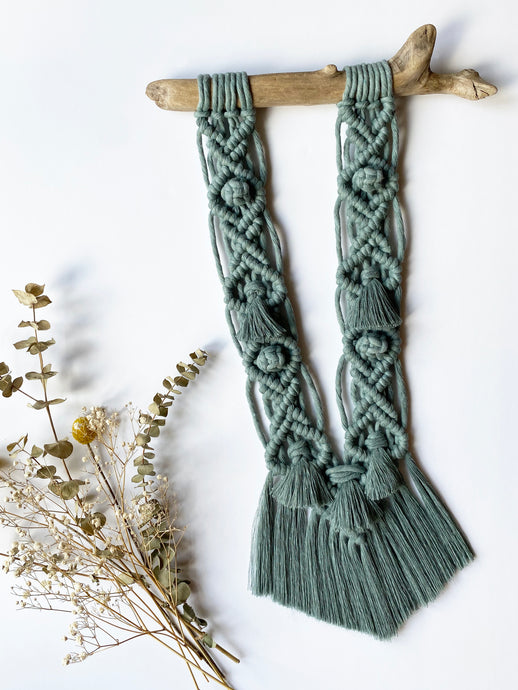 Eucalyptus Macrame Wall Hanging with Driftwood