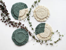 Load image into Gallery viewer, Laurel Macrame Coasters