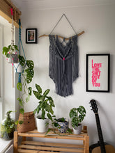 Load image into Gallery viewer, Grey Macrame Wall Hanging