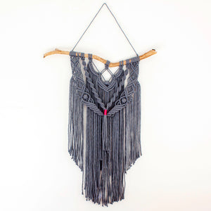 Grey Macrame Wall Hanging