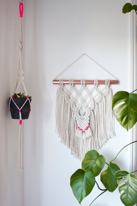 Modern Wall Hanging with Neon Accent