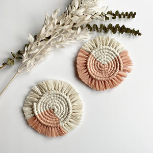 Peach Macrame Coasters