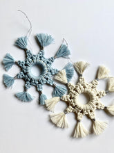 Load image into Gallery viewer, Macrame Snowflakes - Already made