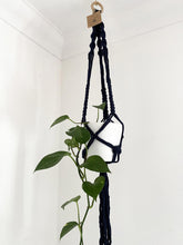 Load image into Gallery viewer, Navy Macrame Plant Hanger