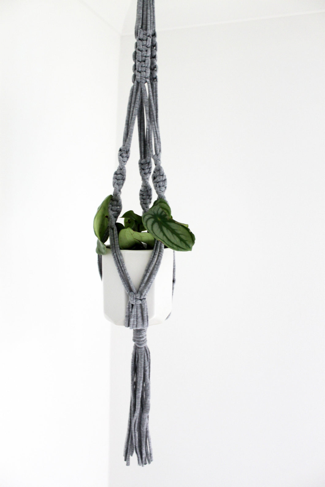 Grey Marle Jersey Plant Hanger