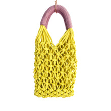 Load image into Gallery viewer, Pastel Macrame Bag - Medium Size