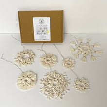 Load image into Gallery viewer, D.I.Y. Macrame Snowflakes