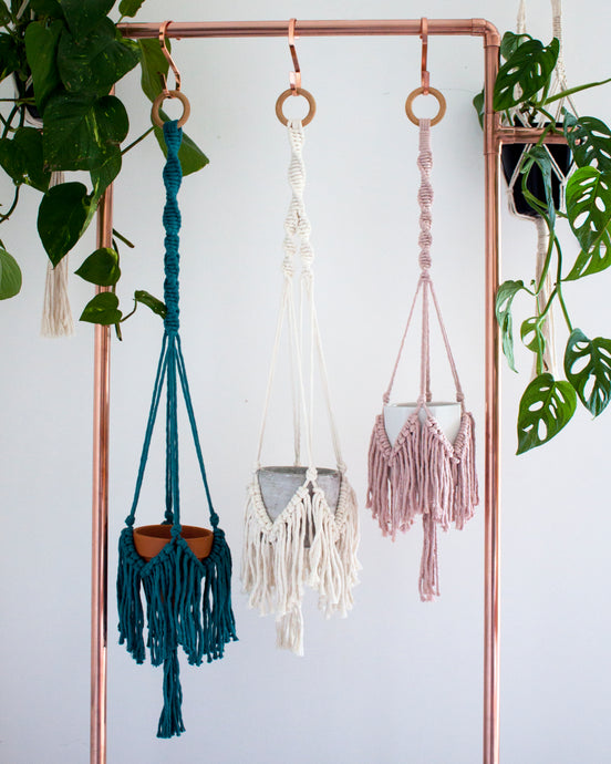 Boho Plant Hanger - Assorted Colours
