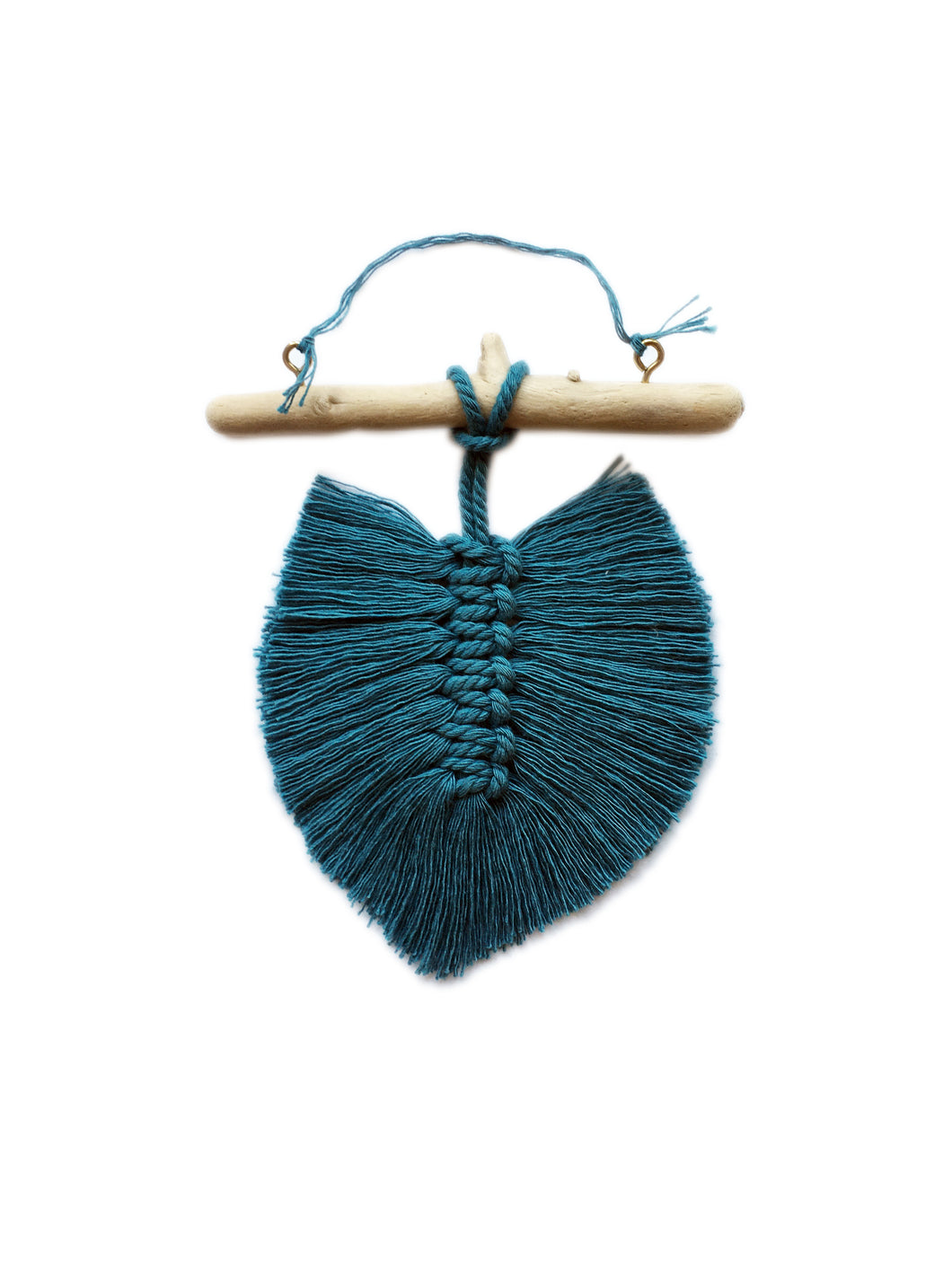 Teal Feather Mini Hanging