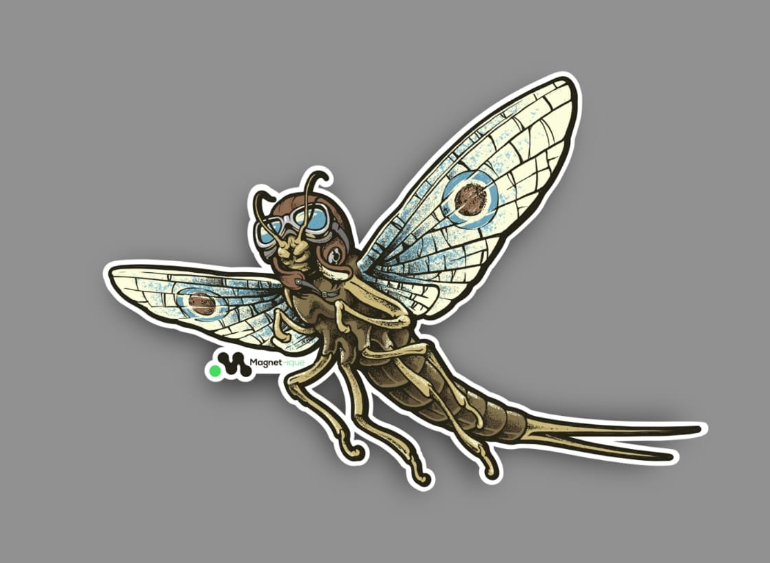 Mayfly Sticker