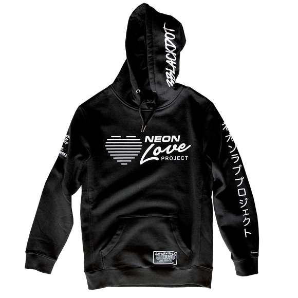NEON LOVE PROJECT™ | NEON DEATH PULLOVER HOODIE (BLACK)