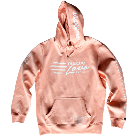 NEON LOVE PROJECT™ | NEON DEATH PULLOVER HOODIE (PINK)
