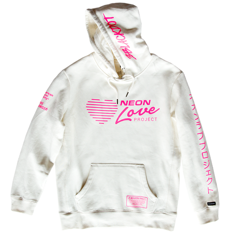 NEON LOVE PROJECT™ | NEON DEATH PULLOVER HOODIE (NATURAL)