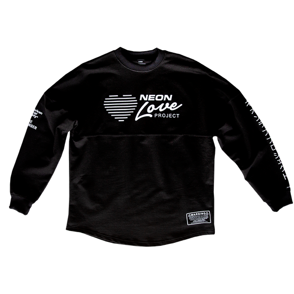 NEON LOVE PROJECT™ | NEON DEATH CUSTOM CREWNECK (BLACK)