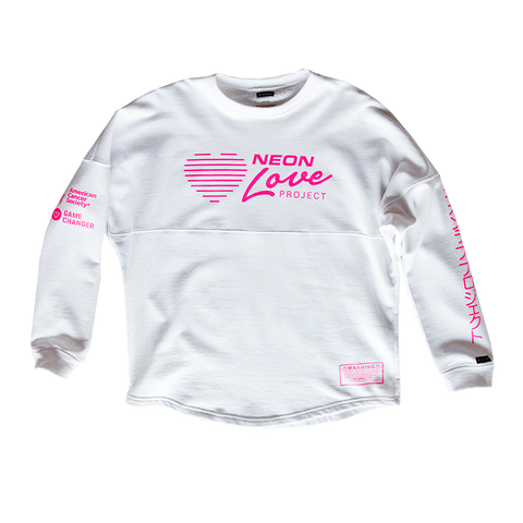 NEON LOVE PROJECT™ | NEON DEATH CUSTOM CREWNECK (WHITE)
