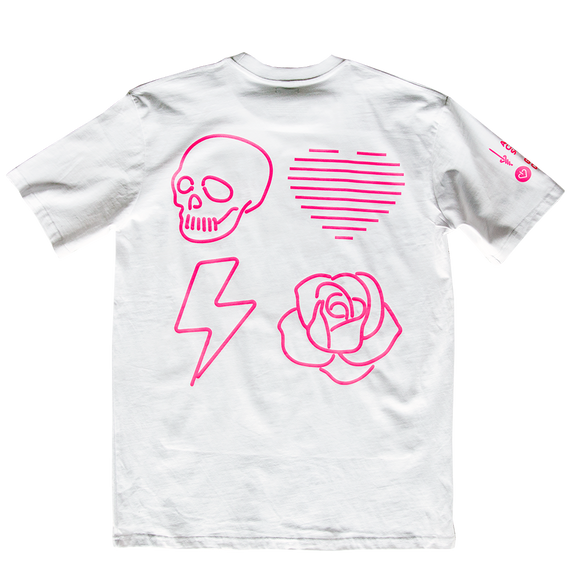 NEON LOVE PROJECT™ | NEON DEATH TEE (WHITE)