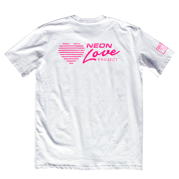 NEON LOVE PROJECT™ | NEON LOVE LOGO TEE (WHITE)