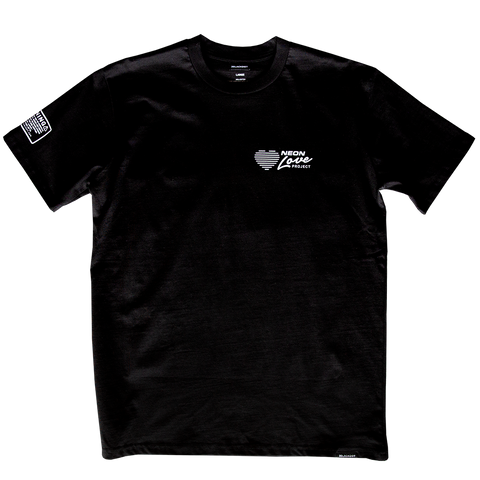 NEON LOVE PROJECT™ | NEON LOVE LOGO TEE (BLACK)