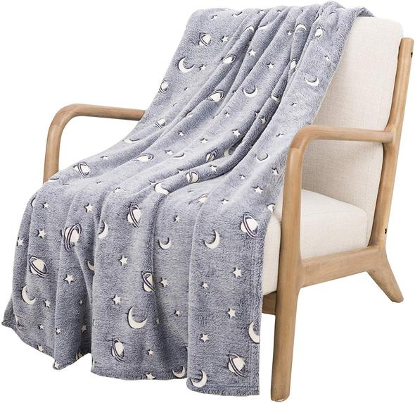 Glow In The Dark Magical Throw Blanket