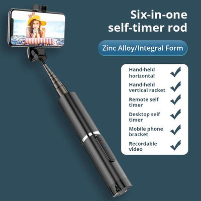 3-in-1 Phantom Bluetooth Selfie Stick with Hidden Tripod