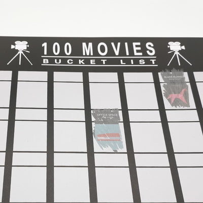100 Movies Bucket List Scratch Off Poster