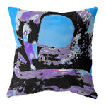"Cygnus ""Black Swan"" Cushion - Impasto Cyan"
