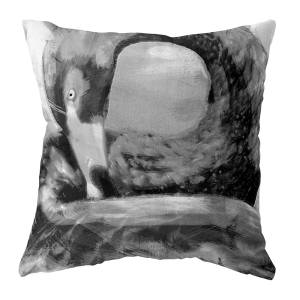 "Cygnus ""Black Swan"" Cushion - Heritage Mono"