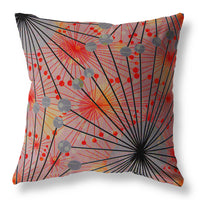 Delirium Cushion - Kanopi Red