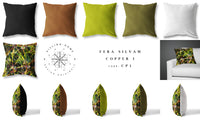 Fera Silvam Cushion - Copper I