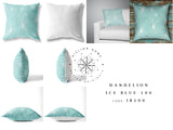 Dandelion Cushion - Ice Blue 100