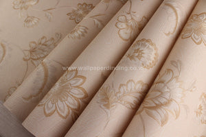 Wallpaper Dinding Bunga Coklat RO109 - Java Wallpaper