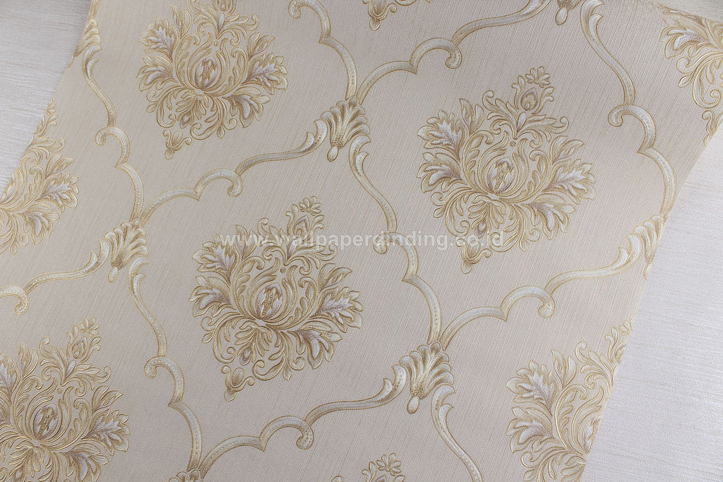 Wallpaper Dinding Batik Cream RO151 - Java Wallpaper
