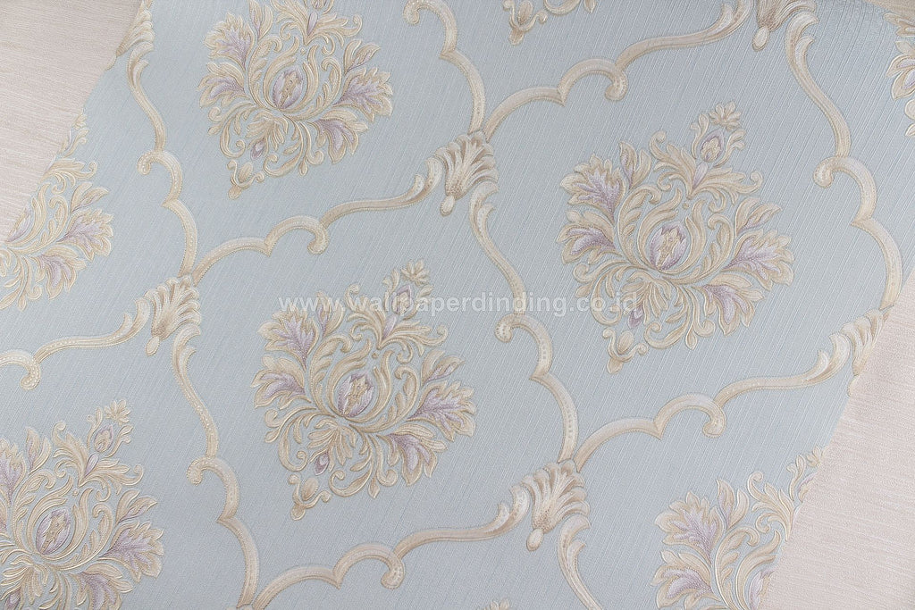 Wallpaper Dinding Batik Biru RO168 - Java Wallpaper