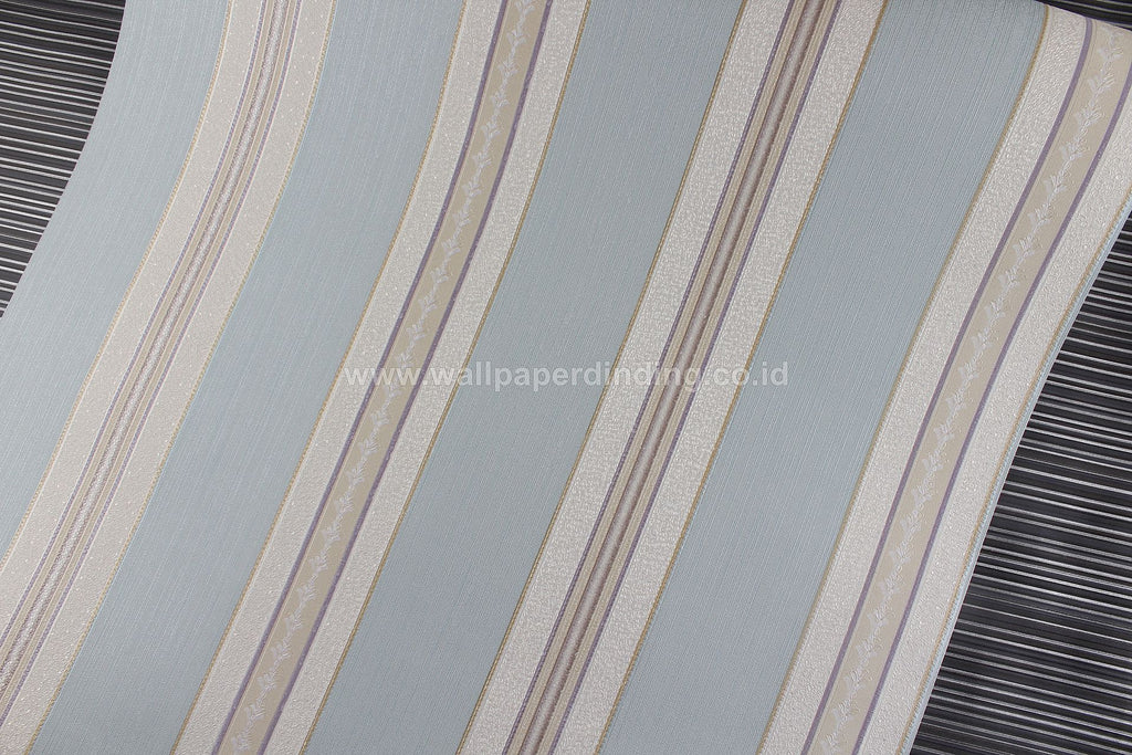 Wallpaper Dinding Batik Garis Biru RO169 - Java Wallpaper