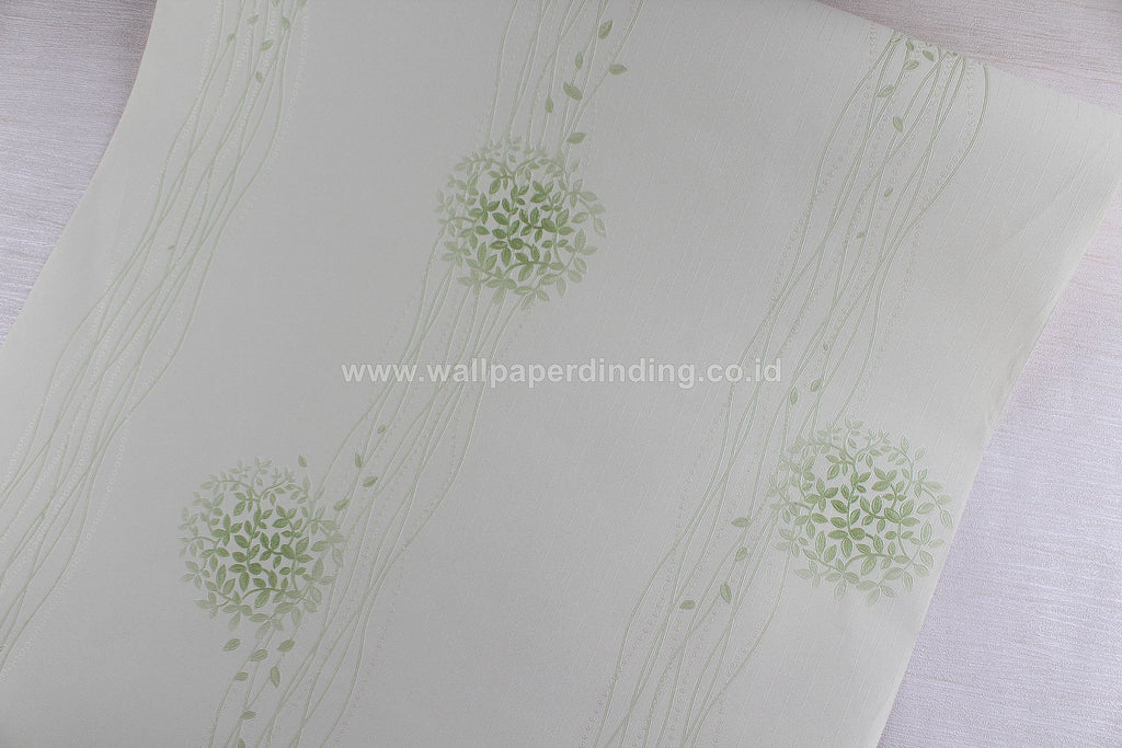 Wallpaper Dinding Daun Garis Hijau NS D1813-5 - Java Wallpaper