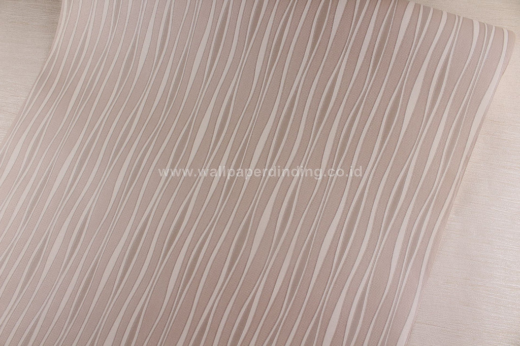 Wallpaper Dinding Garis Putih Cream NS D2811-6 - Java Wallpaper