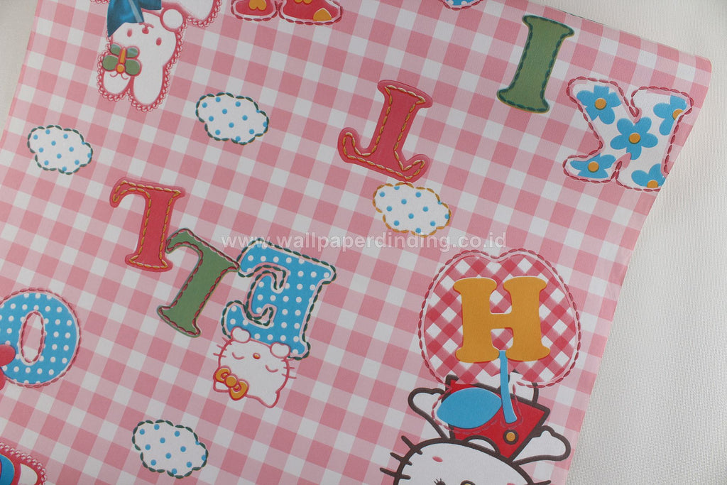 Wallpaper Dinding Anak Hello Kitty Pink YR4417-3 - Java Wallpaper